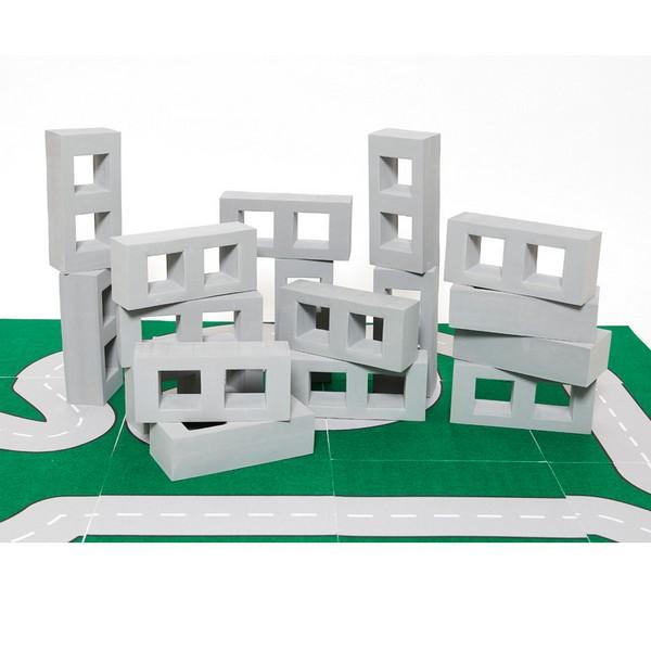 건축가빅벽돌쌓기블럭/그레이/25개
