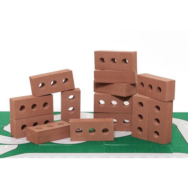 건축가빅벽돌쌓기블럭/레드/25개