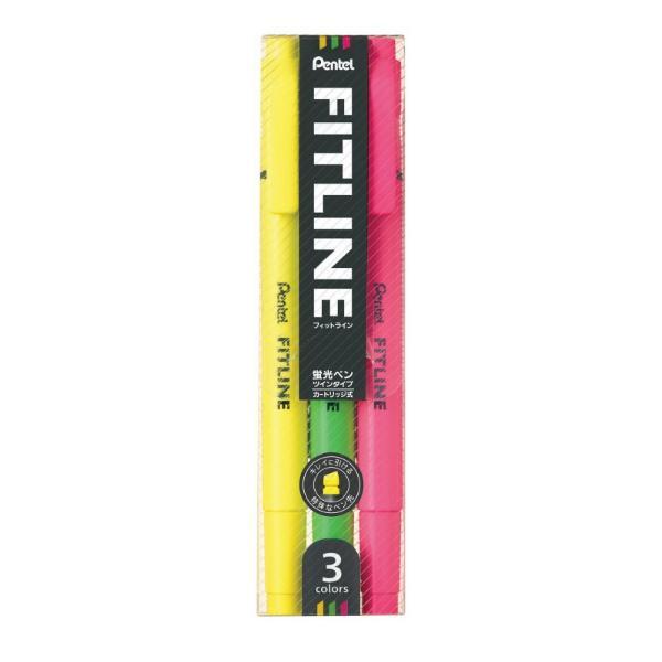 펜텔 피트라인 형광펜 3색세트(옐로우,라이트그린,핑크)