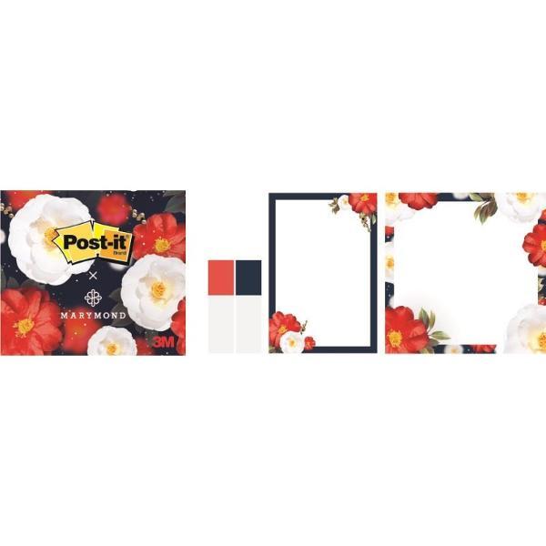 포스트잇X마리몬드 동백팩(노트: 48.8* 72.5mm, 68 * 72.5mm /각 45매 플래그 44*12mm / 각 20매)