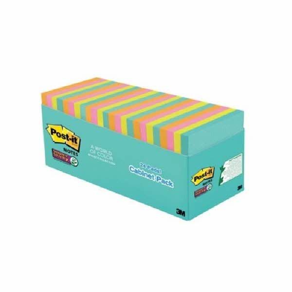포스트잇 강한점착용 노트 654-24SSMIA (마이아미)