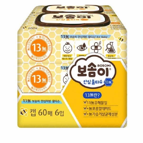 보솜이 안심 물티슈(60매x6개)