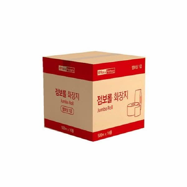 Office & Factory 점보롤(1겹/500mX4롤X4팩(16롤)/박스)