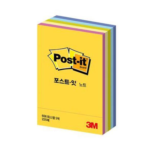 3M 포스트-잇® 노트 CT-32(파스텔)(45장/5색상,51x76mm)