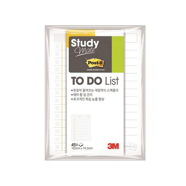 3M 포스트-잇® 스터디메이트 투두리스트 657(102x74.5mm, 45매, 657)