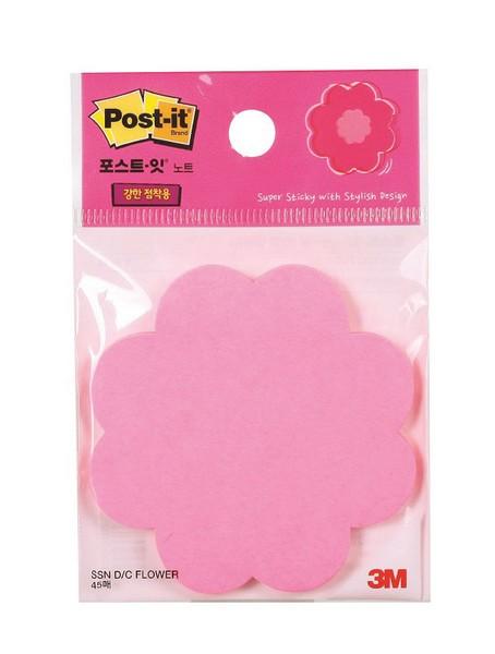 3M 포스트-잇® 강한점착용 모양 노트 꽃(45매/1패드)