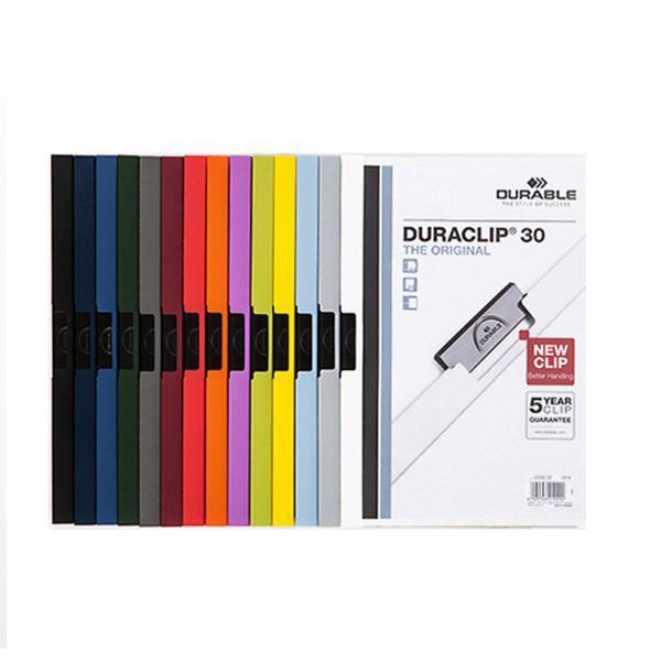 듀라블 투명크립화일(2200/A4/30매용/노랑)