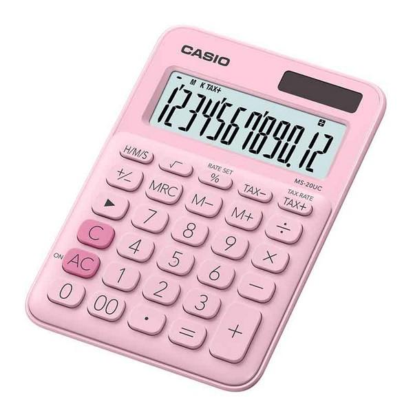 카시오 컬러계산기 MS-20UC 핑크