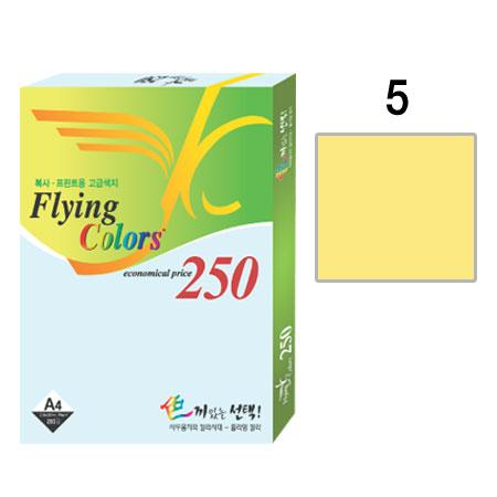 플라잉컬러250 (NO05/A4/ 80g/ 연노랑/ 250매/팩/삼원)
