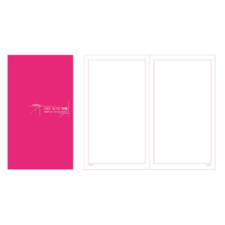 펑션노트북 (A5/핑크무지/120x210mm/말리스타)