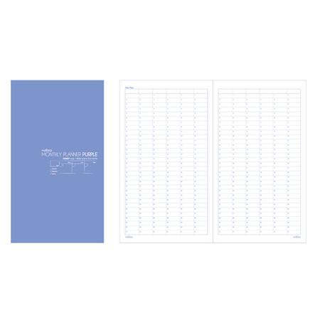 펑션노트북 (A5/퍼플먼슬리/120x210mm/말리스타)