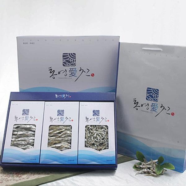 통영명품은멸치 선물세트2호(특대/특중/특소멸 각300g)